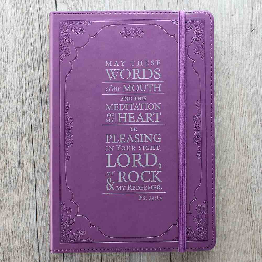 Journal: May These Words, Purple With Elastic Closure Imitation Leather