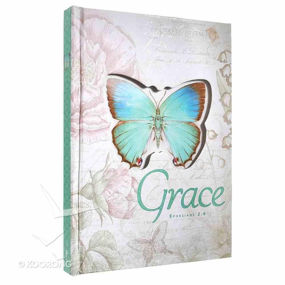 Die-Cut Journal: Grace (Blue/butterfly) Hardback