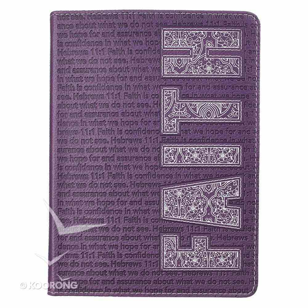 Journal: Faith Purple/White Luxleather Imitation Leather