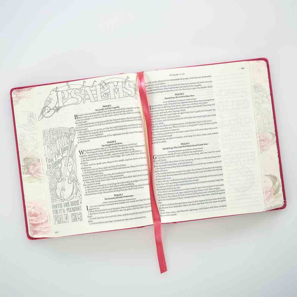 KJV My Creative Bible Pink (Black Letter Edition) Imitation Leather