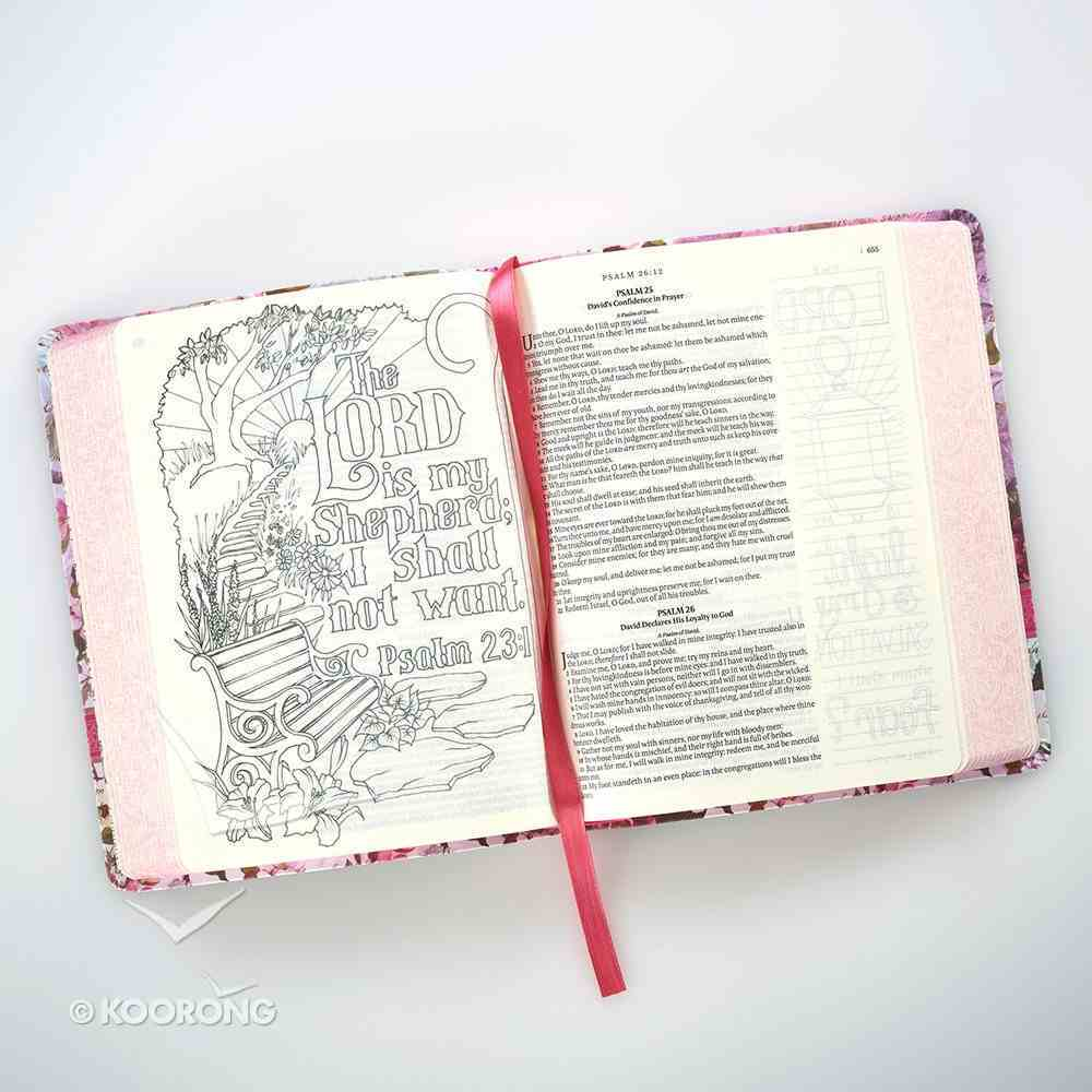 KJV My Creative Bible Silky Floral (Black Letter Edition) Imitation Leather