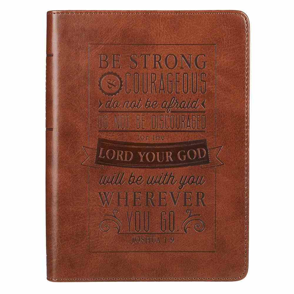 Journal: Be Strong & Courageous , Tan, Handy-Sized (Josh 1:9) Imitation Leather