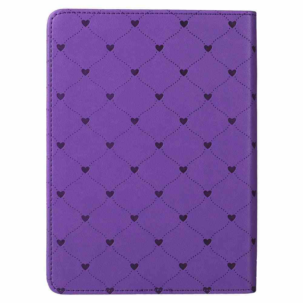 Classic Journal: Faith Hope Love Purple/Pink Luxleather (1 Cor 13) Imitation Leather