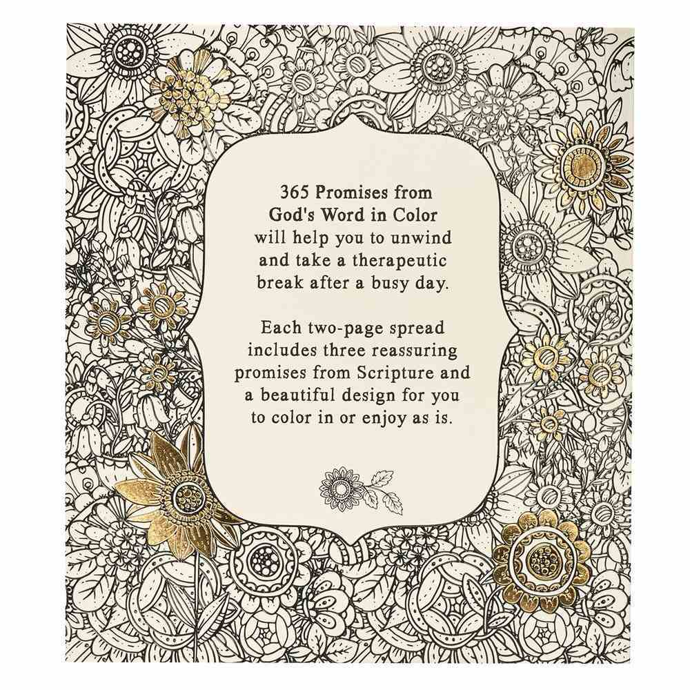 365 Promises From God's Word in Color (Adult Coloring Books Series) Paperback
