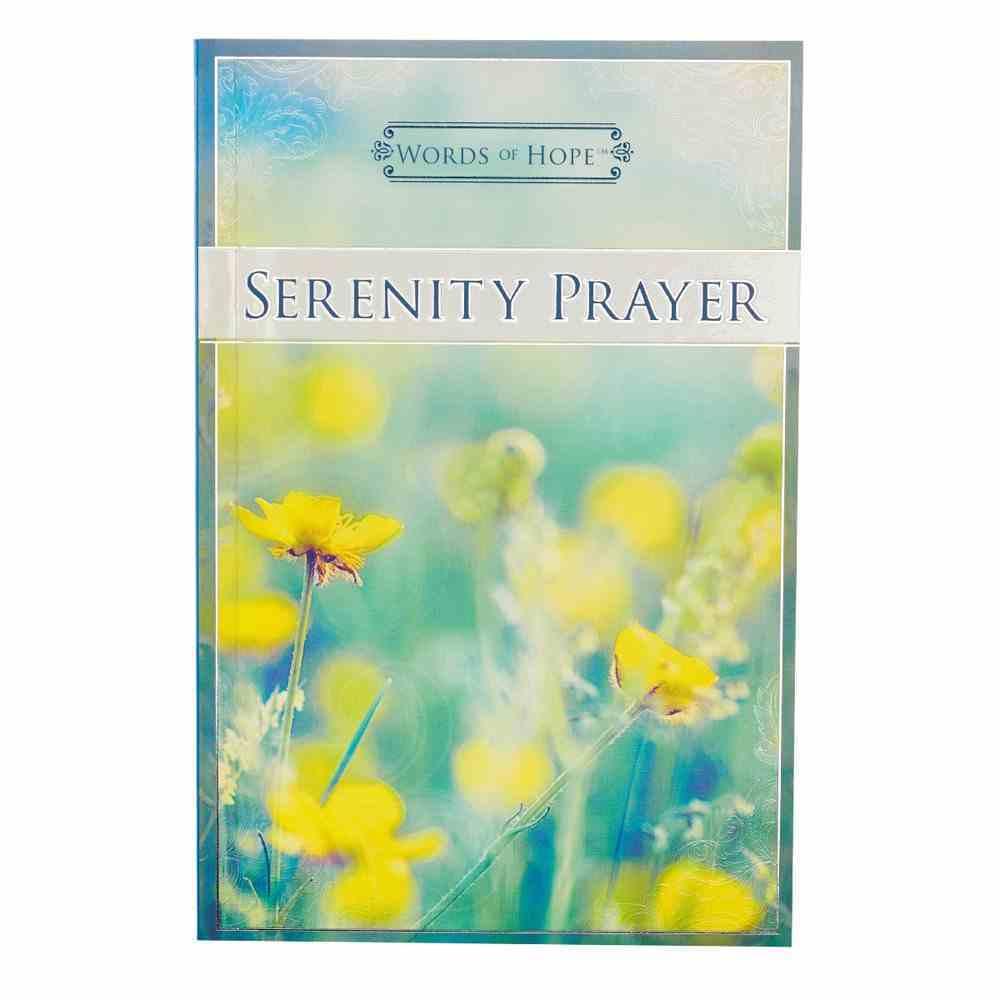 Serenity Prayer (Words Of Hope Series) Paperback