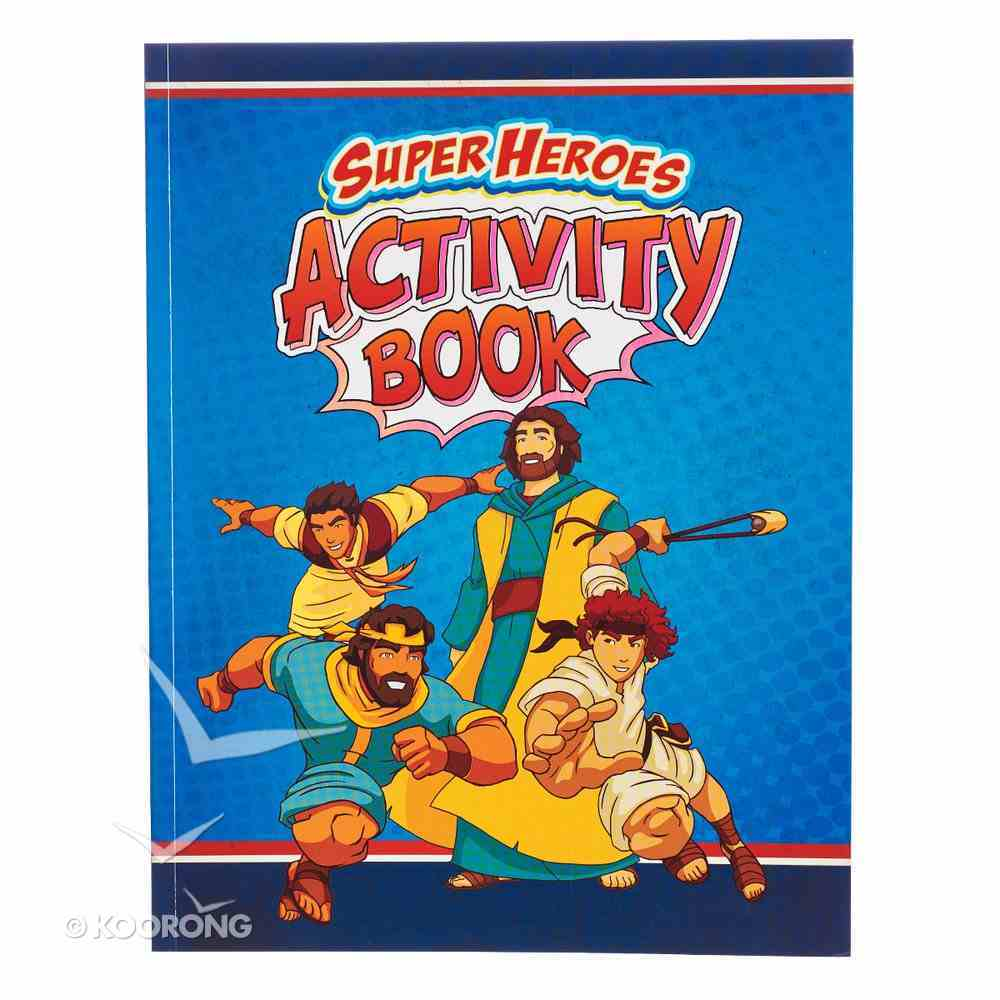 Super Heroes Activity Book Paperback