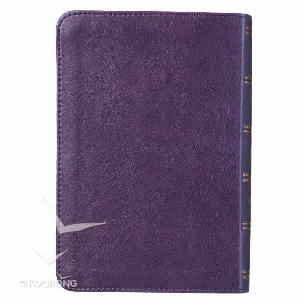 KJV Compact Large Print Bible Purple Red Letter Edition Imitation Leather