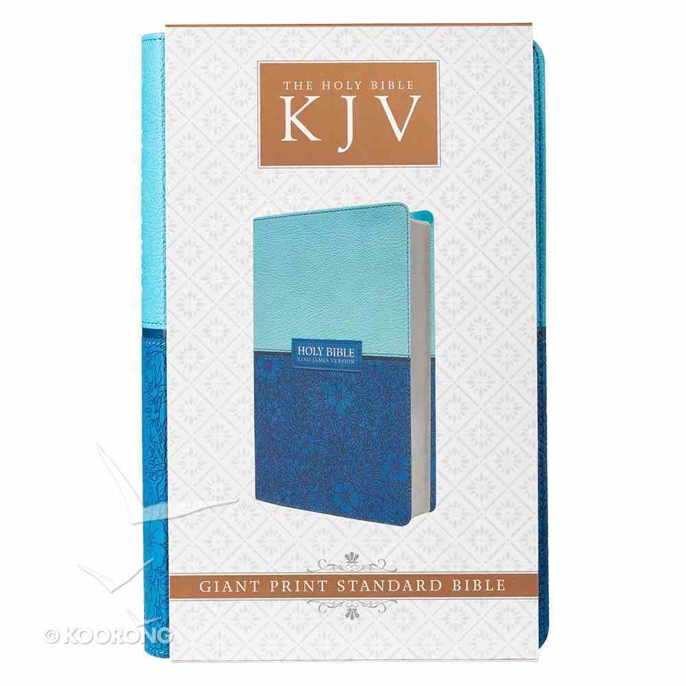 KJV Giant Print Bible Blue Red Letter Edition Imitation Leather