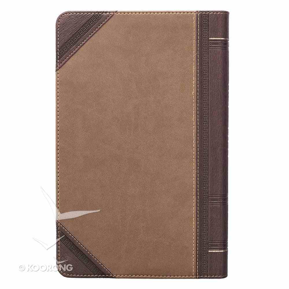 KJV Giant Print Bible 2-Tone Brown Red Letter Edition Imitation Leather