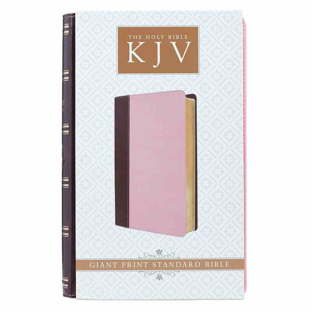 KJV Giant Print Bible Pink/Brown Red Letter Edition Imitation Leather