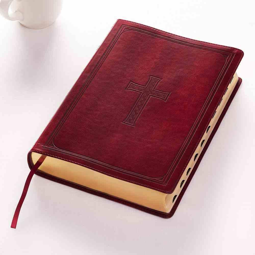 KJV Super Giant Print Bible Burgundy Red Letter Edition Imitation Leather
