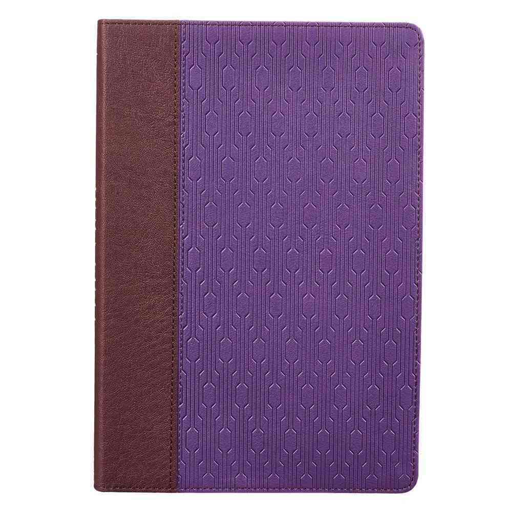 KJV Large Print Thinline Bible Brown Purple Red Letter Edition Imitation Leather