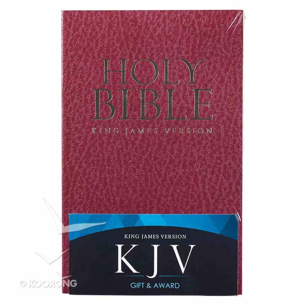 KJV Gift & Award Bible Burgundy (Black Letter Edition) Paperback