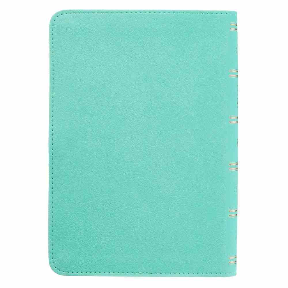 KJV Compact Large Print Teal Red Letter Edition Imitation Leather