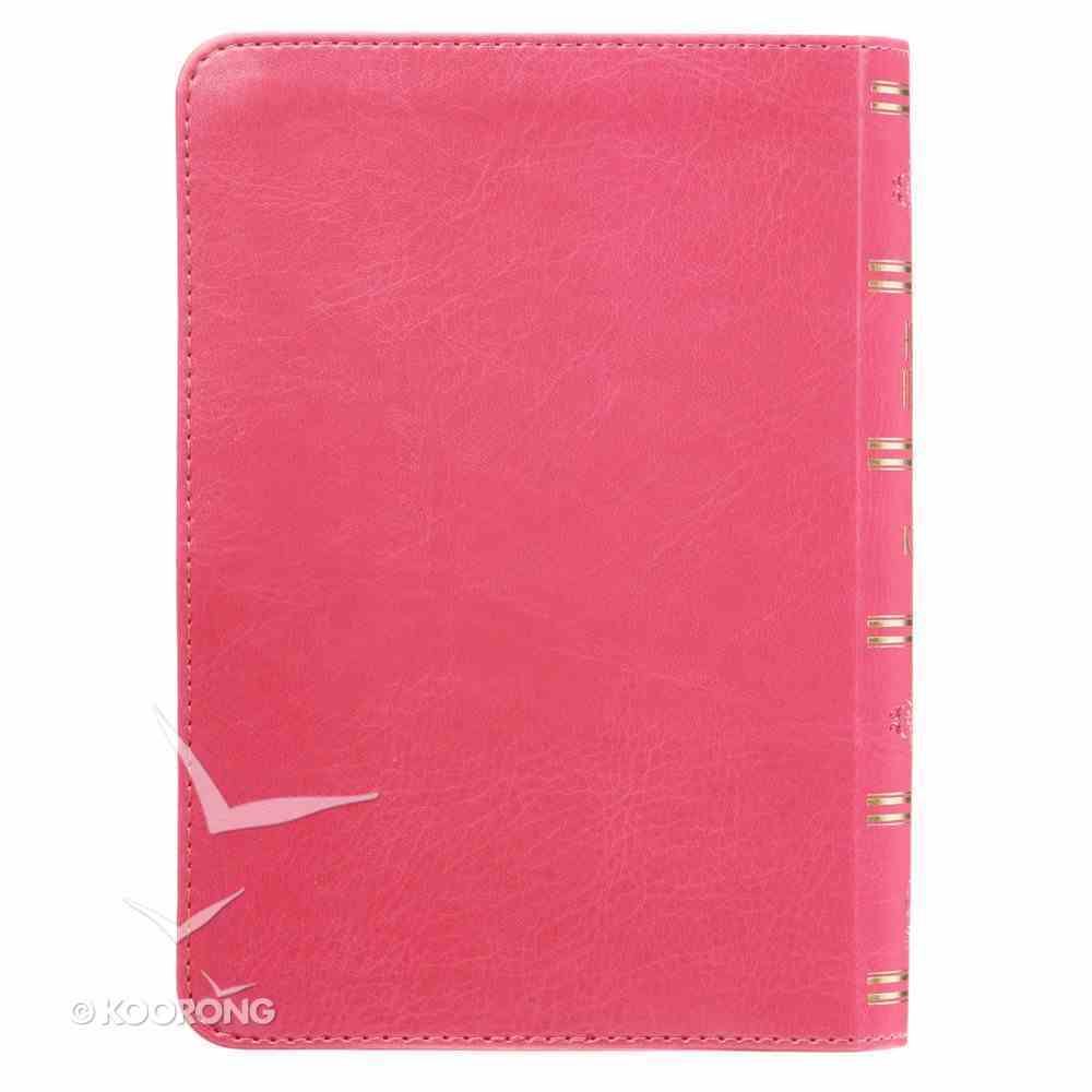 KJV Compact Large Print Pink Red Letter Edition Imitation Leather