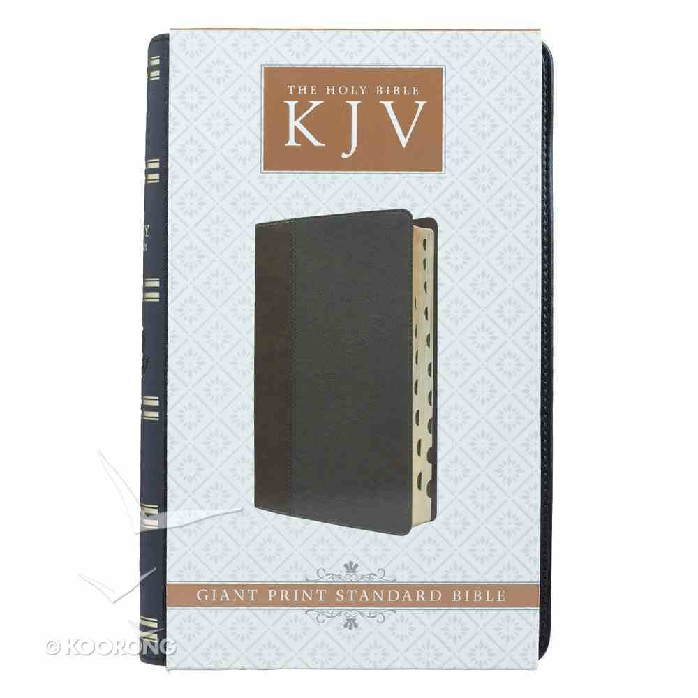 KJV Giant Print Bible 2-Tone Black Red Letter Edition Imitation Leather