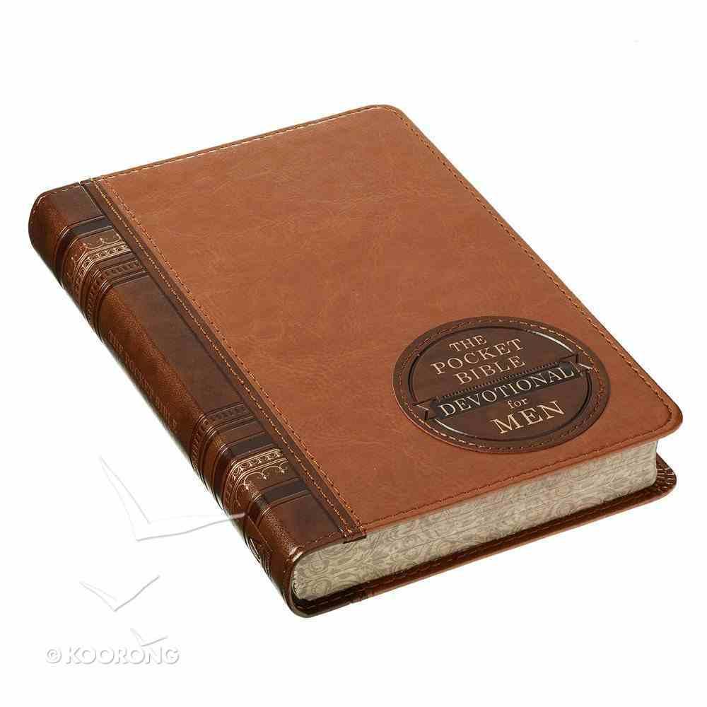 Pocket Bible Devotional For Men (365 Daily Devotions Series) Imitation Leather