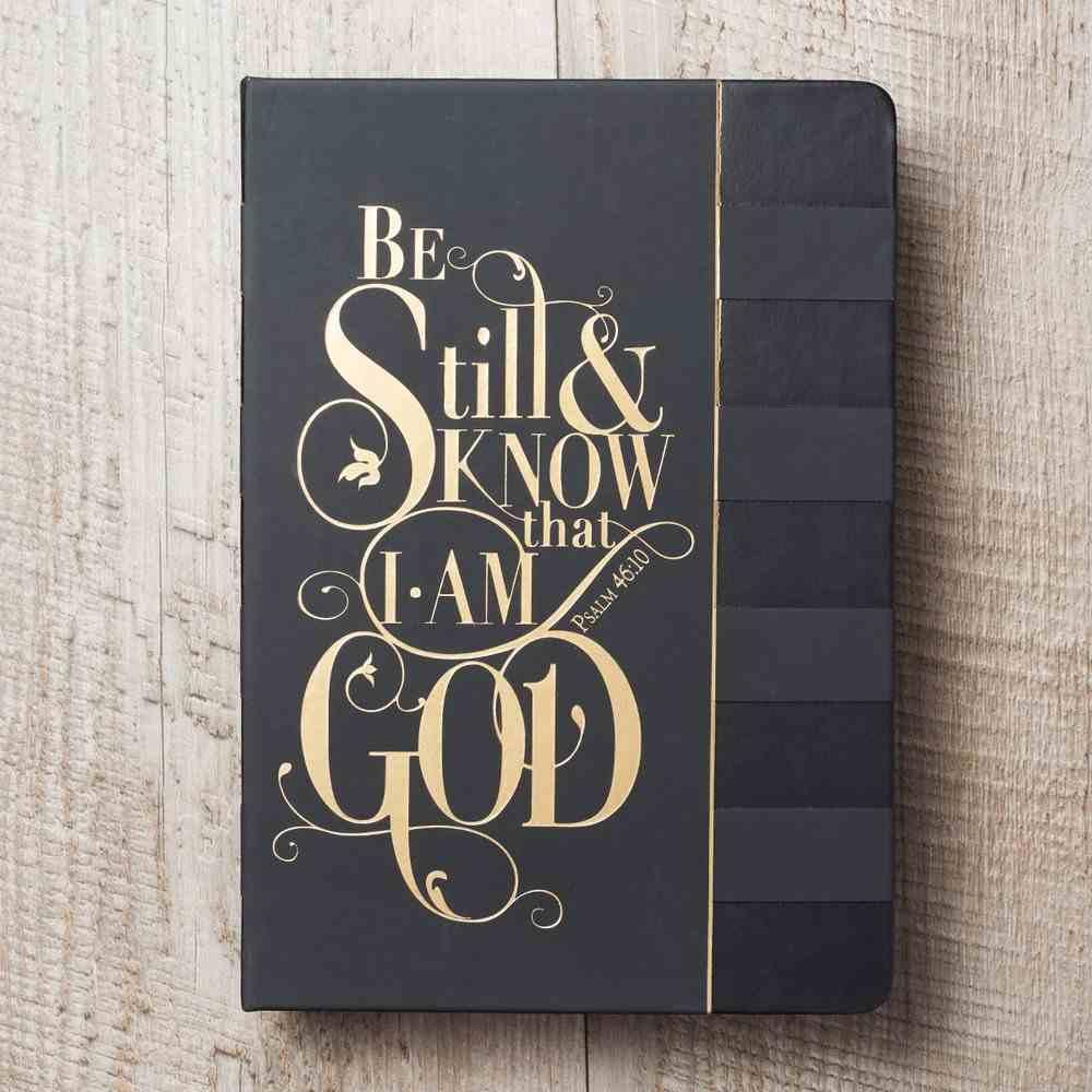 Journal: Be Still & Know.....Black, Saved By Grace Stationery