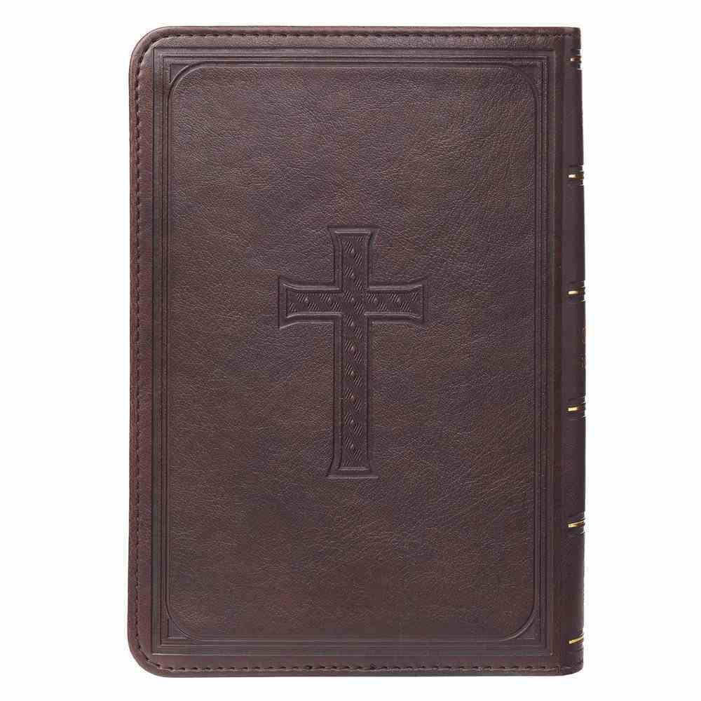 KJV Compact Large Print Dark Brown Red Letter Edition Imitation Leather