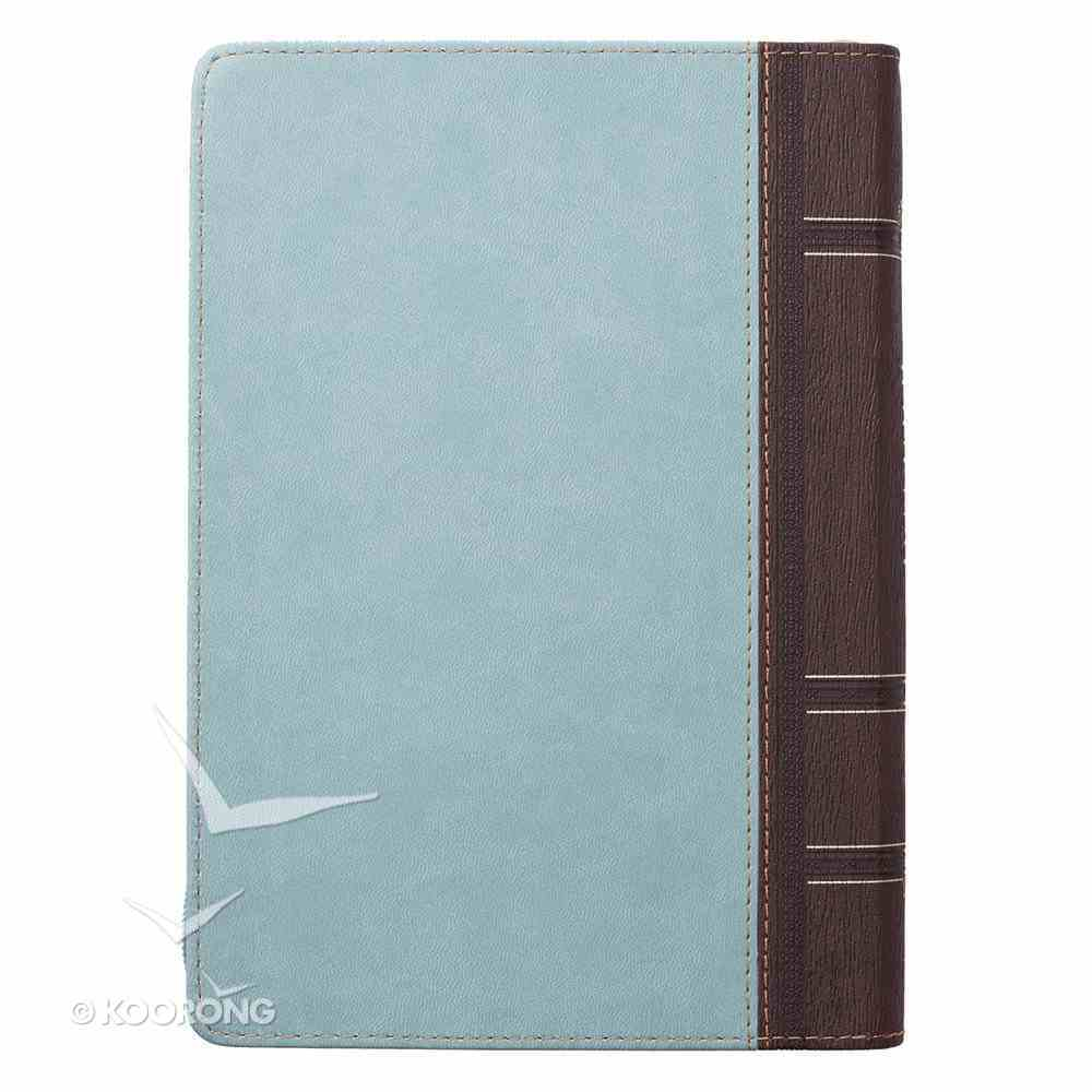 Journal With Zip Closure: Blessed Turquoise/Brown (Luke 1:45) Stationery
