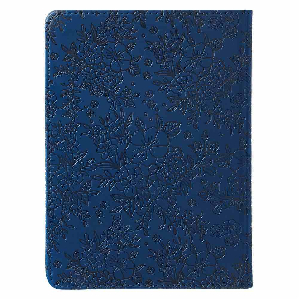 Journal: May He Give You the Desire of Your Heart Navy/Floral, Handy-Sized (Psalm 20:4) Imitation Leather