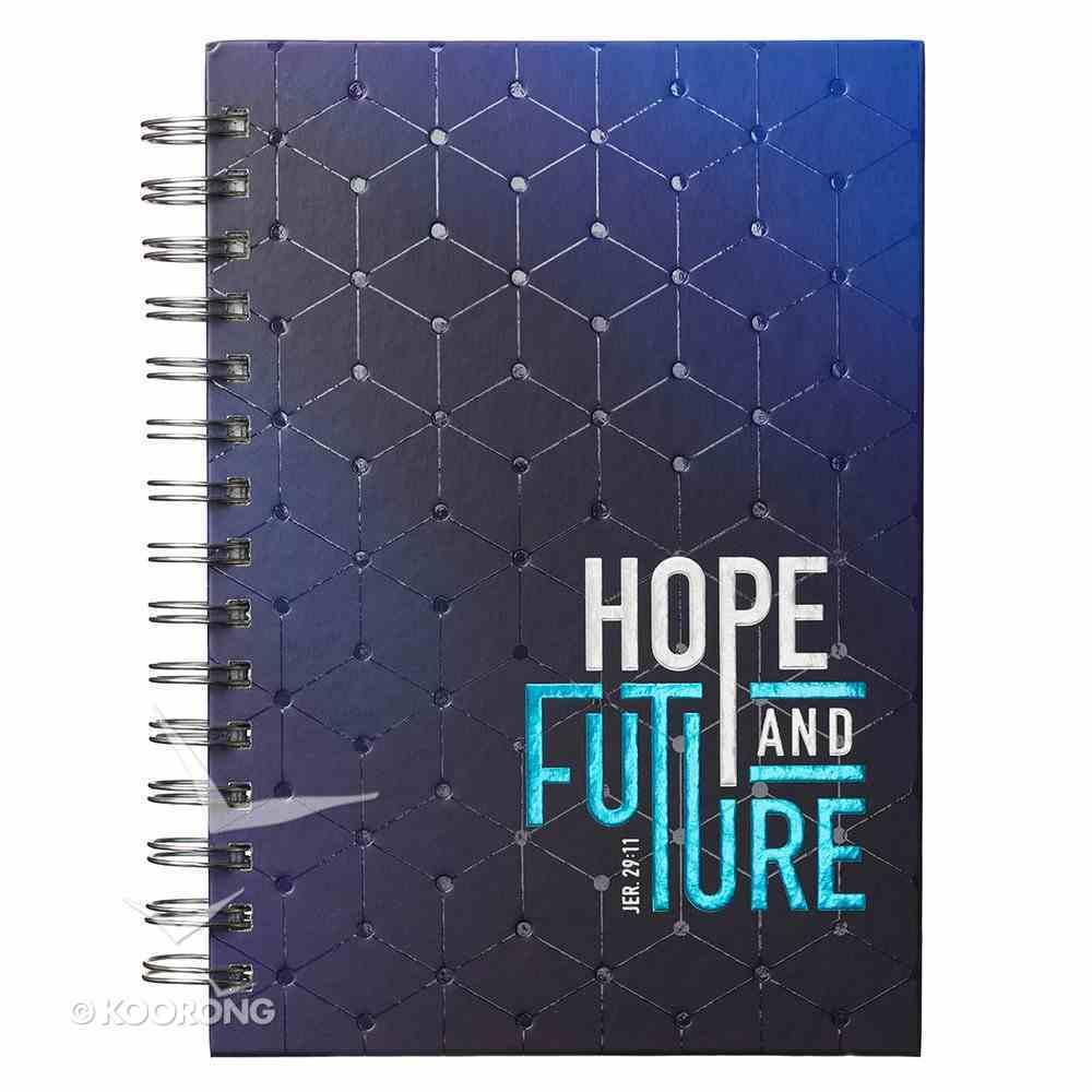 Spiral Journal: Graduation, Hope & Future Navy/Light Blue (Jer 29:11) Stationery