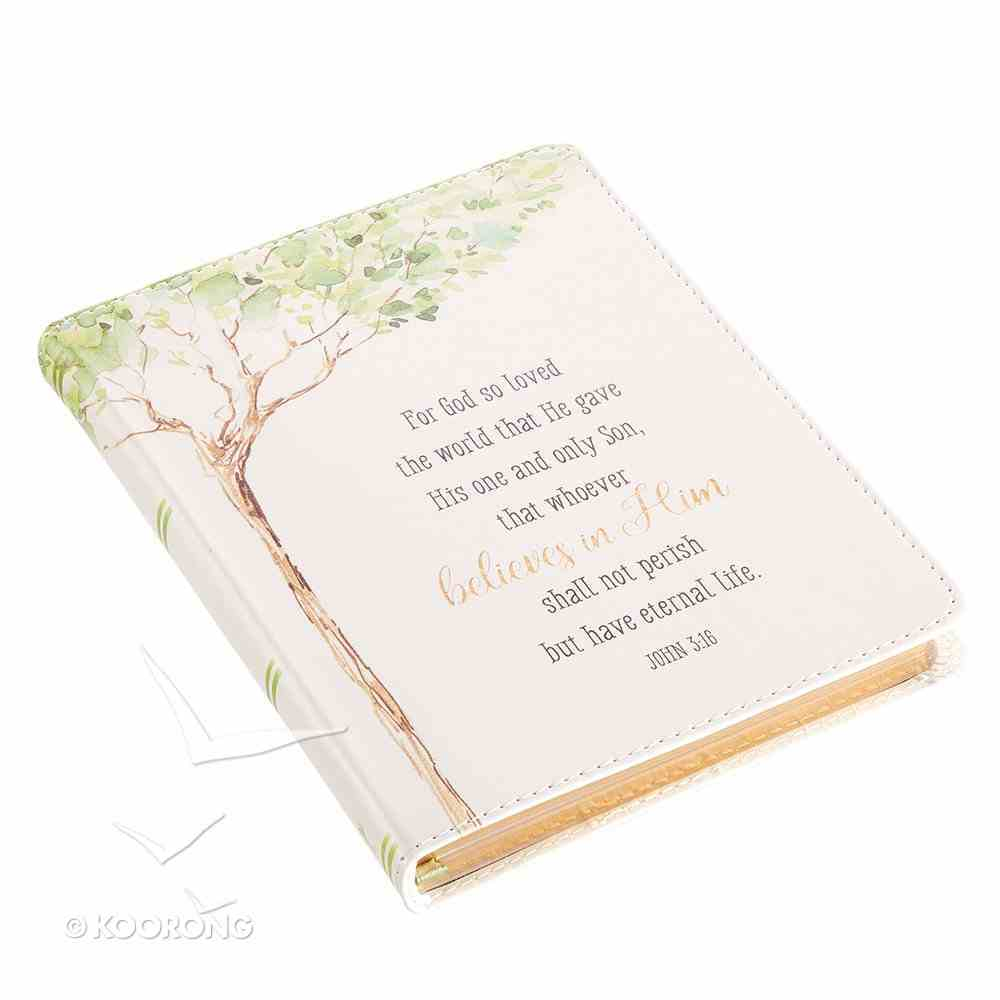 Classic Journal: For God So Loved the World Tree Luxleather (John 3:16) Imitation Leather