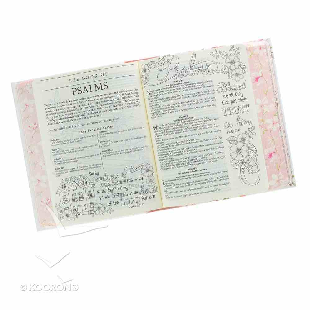 KJV My Promise Bible Large Print Pink Floral (Black Letter Edition) Hardback