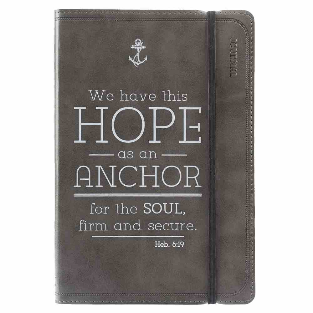 Journal: Hope as An Anchor, Black With Elastic Closure Imitation Leather