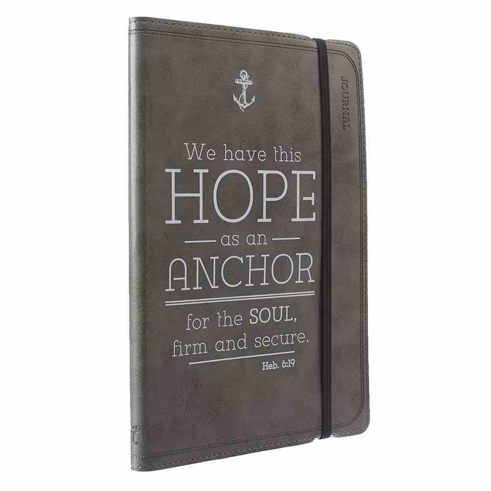 Journal: Hope as An Anchor, Black Flexcover With Elastic Closure Imitation Leather