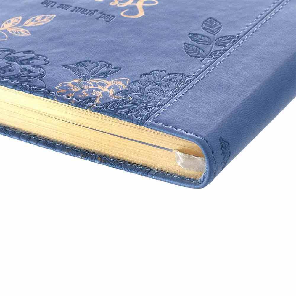 Journal: Serenity Prayer, Blue Floral, Slimline Imitation Leather