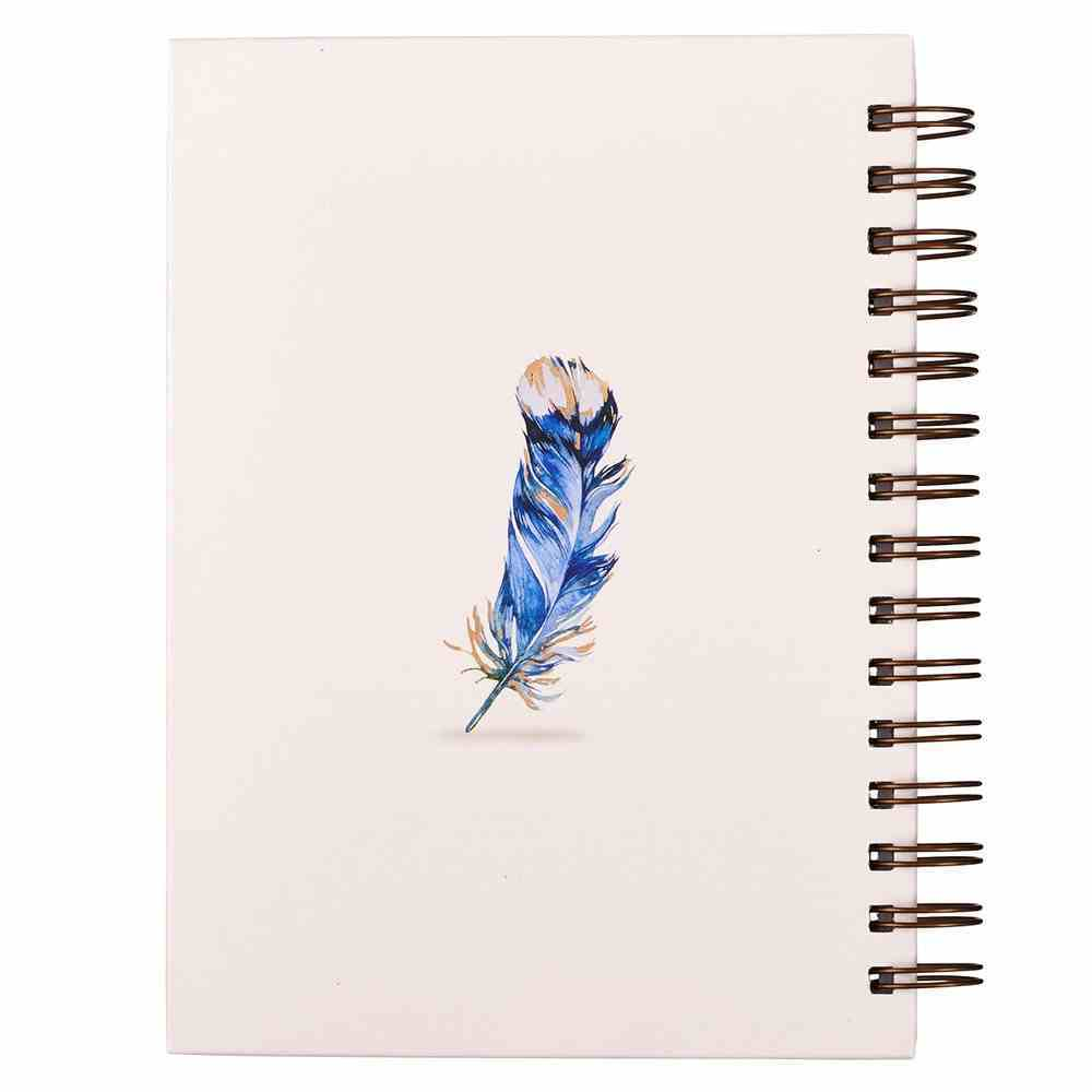 Journal: He Will Cover You With His Feathers, Blue Feathers Spiral
