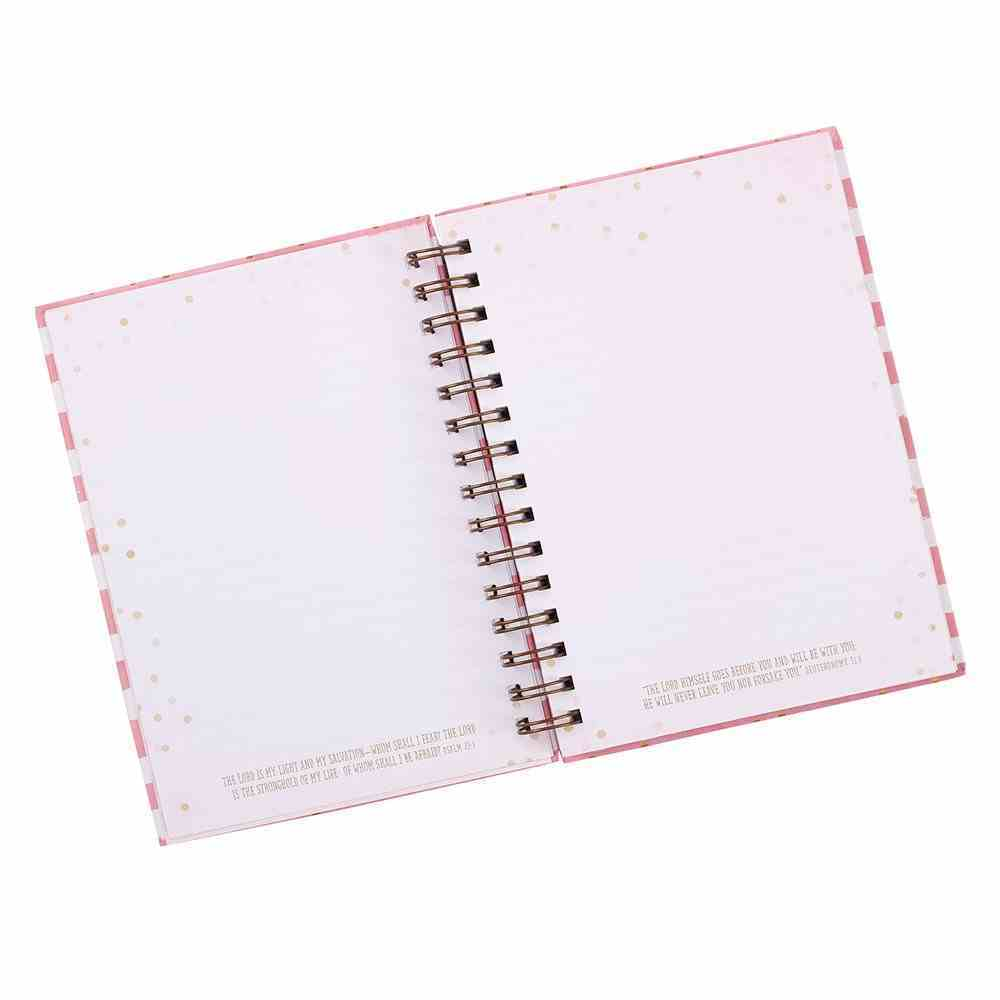 Journal: Fearfully & Wonderfully Made, Pink & White Stripes Spiral