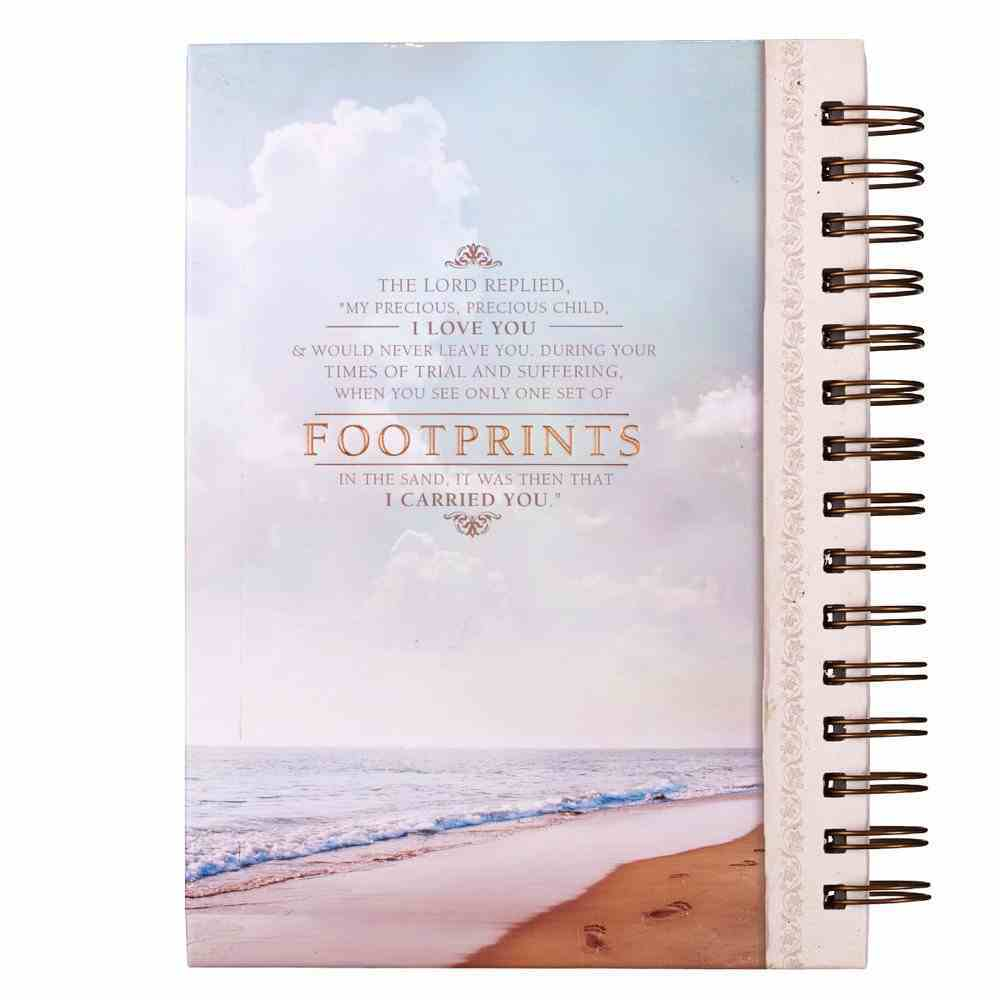 Wirebound Journal: Footprints Spiral