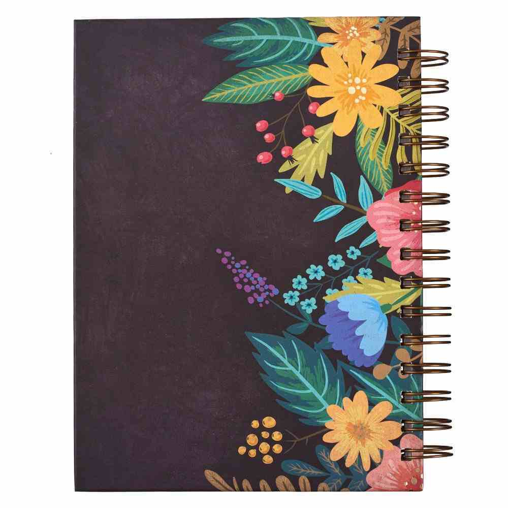 Journal: With God All Things Are Possible, Floral Wreath Spiral
