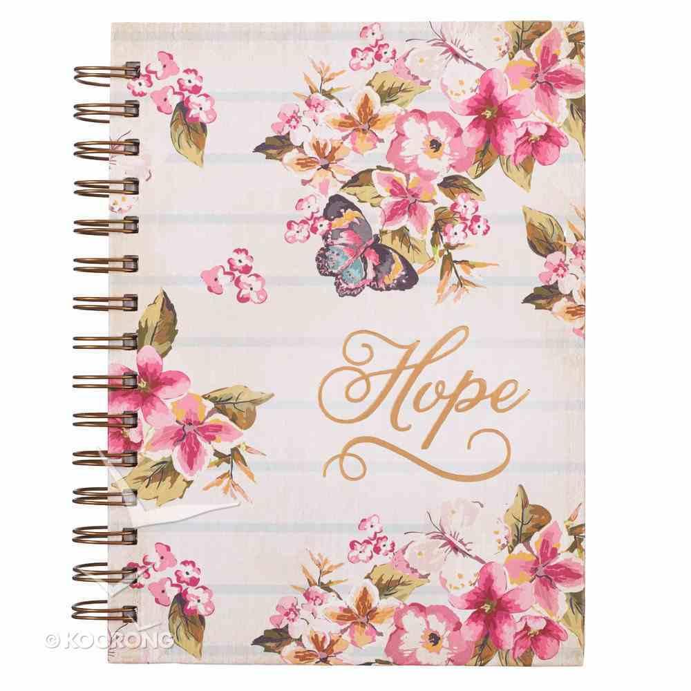 Wirebound Journal: Hope, Floral Spiral