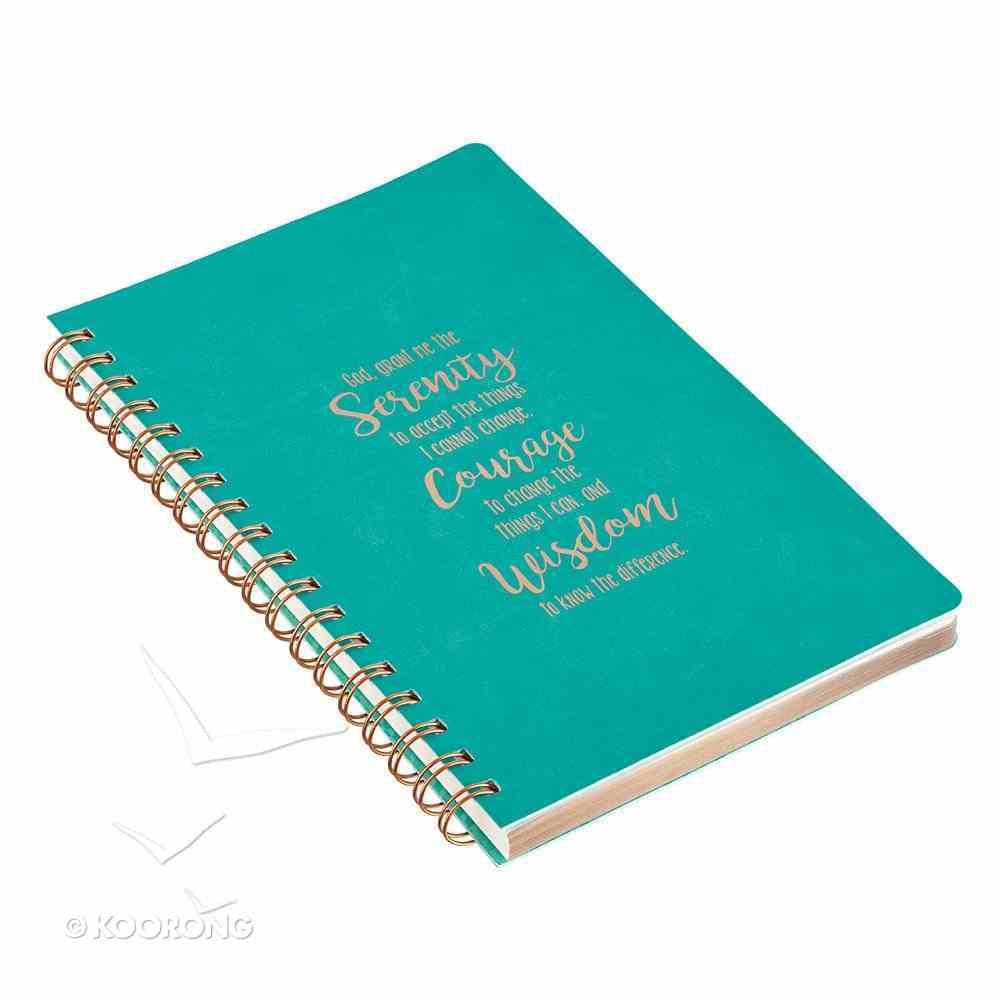 Spiral Journal, Serenity Prayer, Luxleather Spiral
