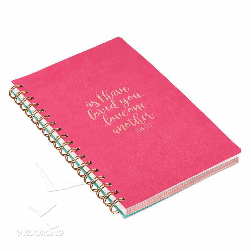 Spiral Journal, as I Have Loved You, John 13: 34, Luxleather Spiral