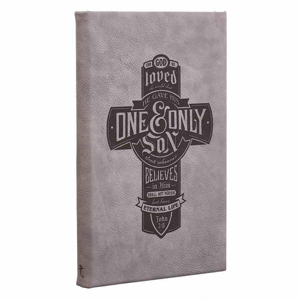 Engraved Journal: For God So Loved the World.... Dark Grey (John 3:16) Hardback