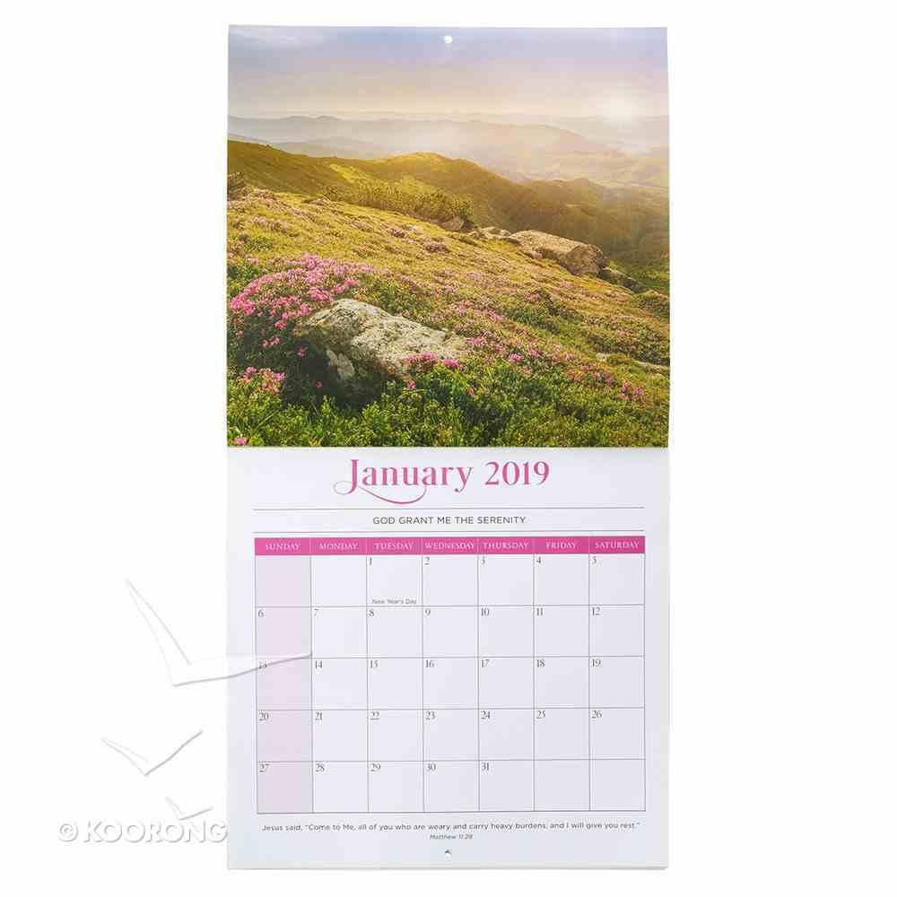 2019 Large Calendar: Serenity Prayer Calendar