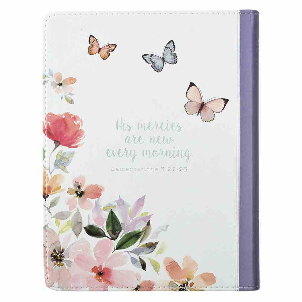 2019 12-Month Daily Diary/Planner For Women, Bird/Pink Flowers Luxleather Imitation Leather