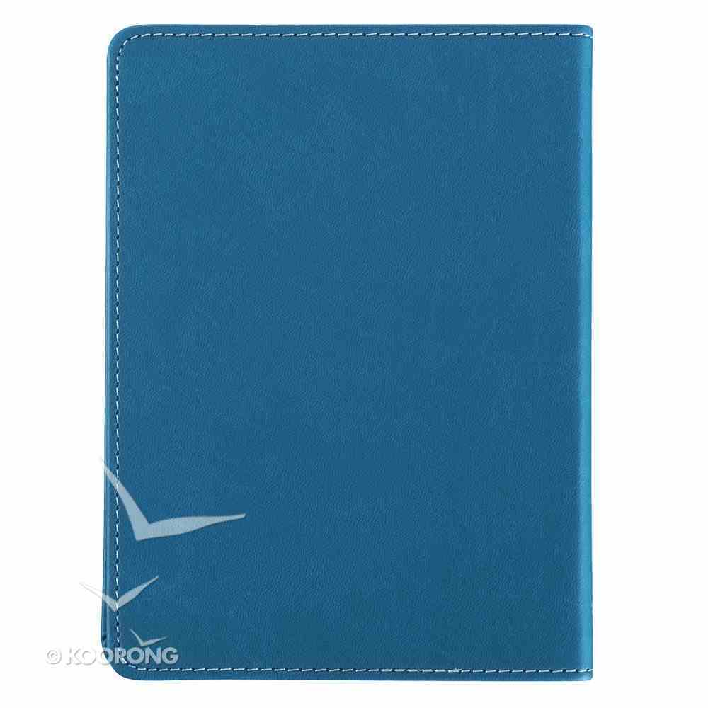 Journal: Be Strong & Courageous, Blue, Handy-Sized Imitation Leather