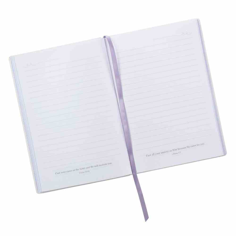 Journal: God is Our Refuge and Strength, Feathers, Bird Luxleather (Psalm 46:1) Stationery