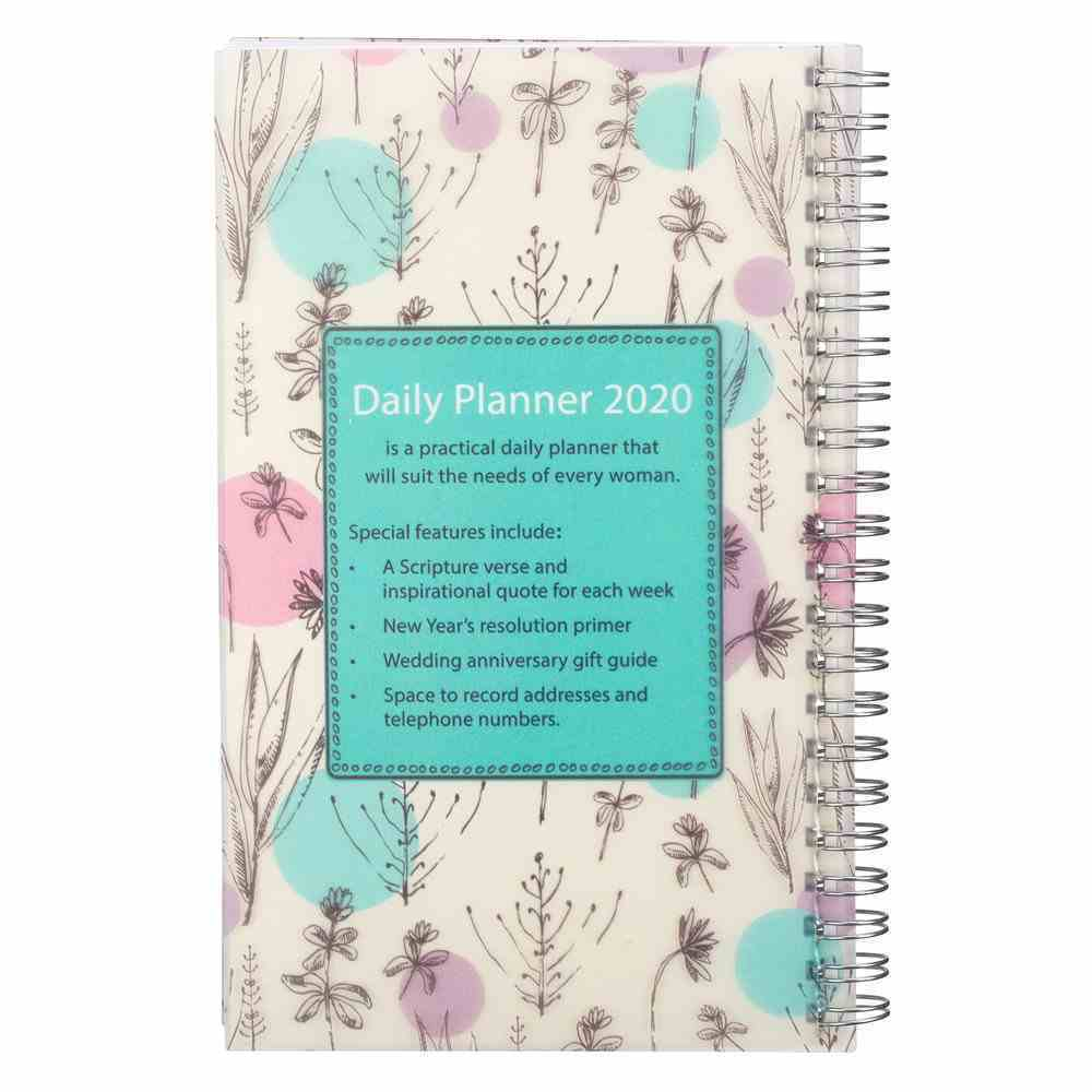 2020 12-Month Daily Diary/Planner: His Mercies Are New Every Morning, Lam 3:22-23 Spiral