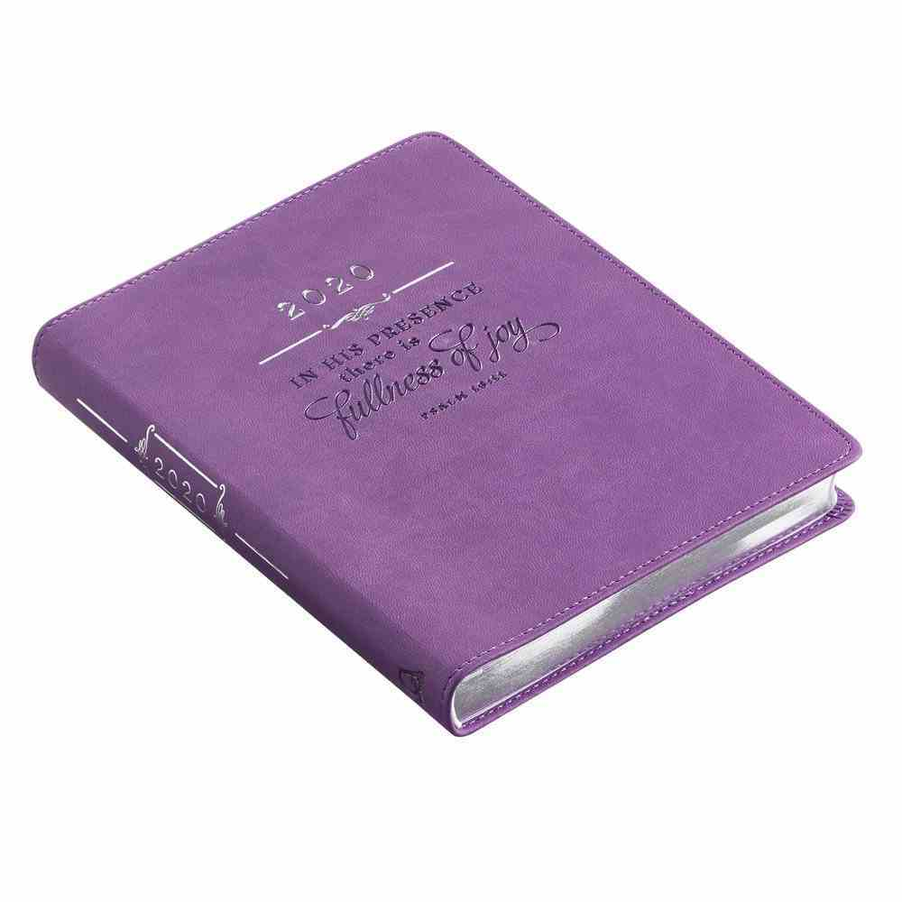 2020 12-Month Daily Diary/Planner For Women: In His Presence There is Fullness of Joy, Dark Purple Luxleather Imitation Leather