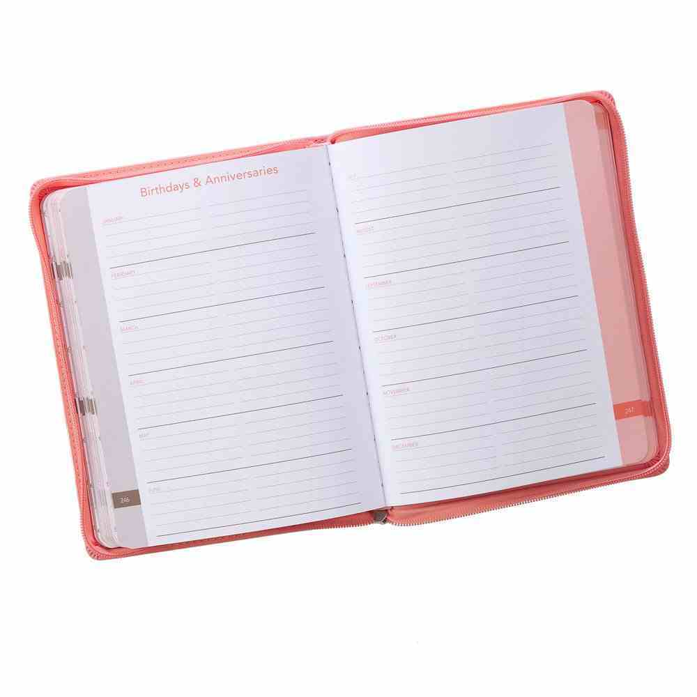 2020 Large 18-Month Diary/Planner: A Year of Grace, Peach Imitation Leather