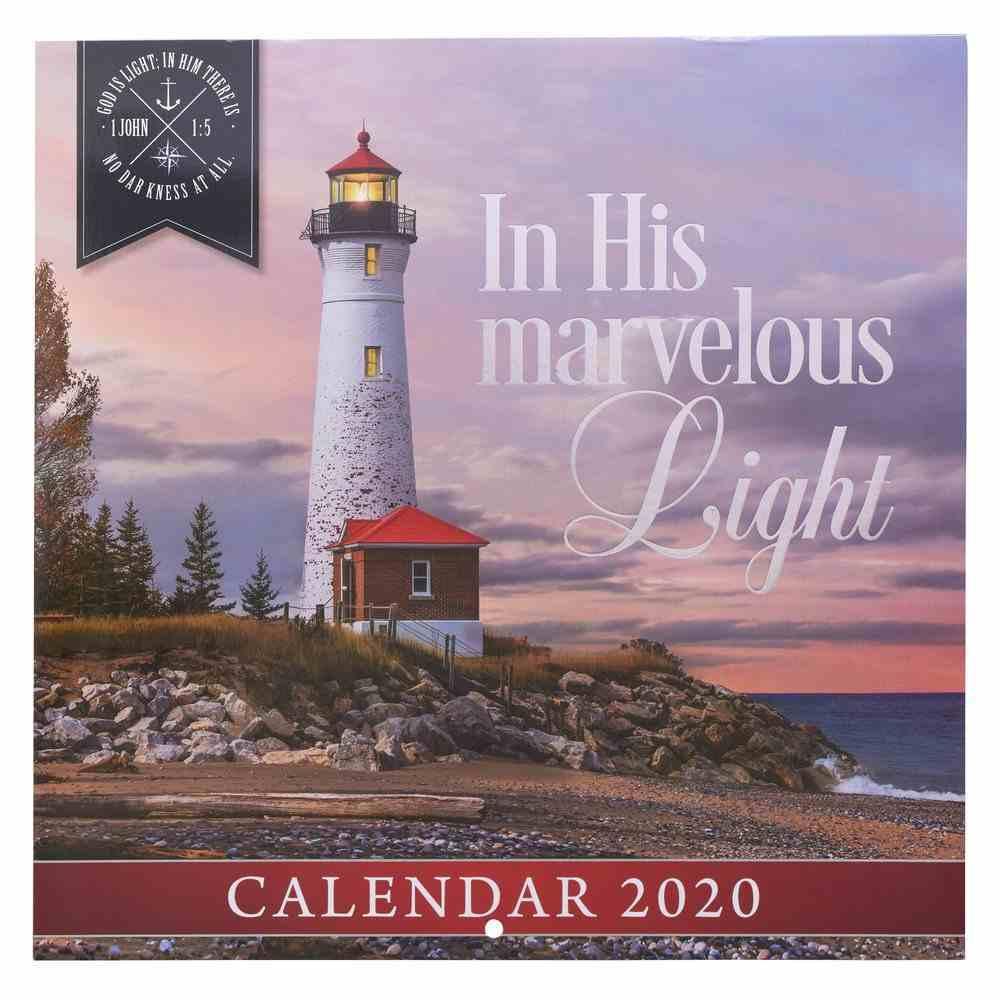 2020 Large Calendar: In His Marvelous Light Calendar