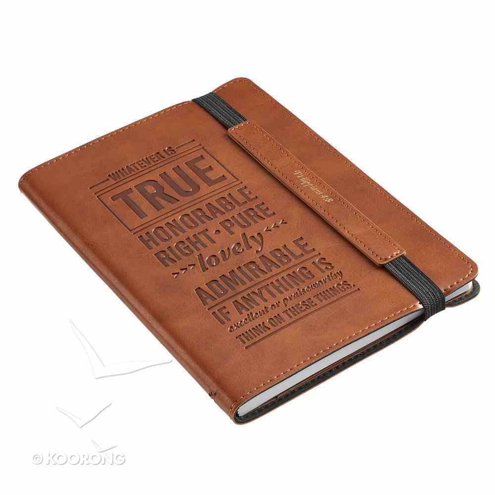 Bullet Journal: Whatever is True, Flexicover With Elastic Closure Imitation Leather