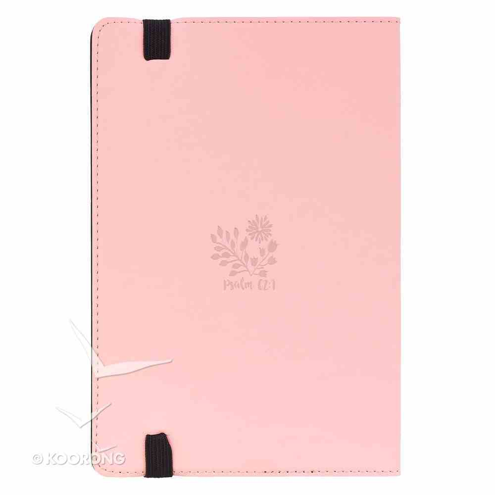 Dot Grid Journal: My Soul Finds, Pink With Elastic Closure Imitation Leather