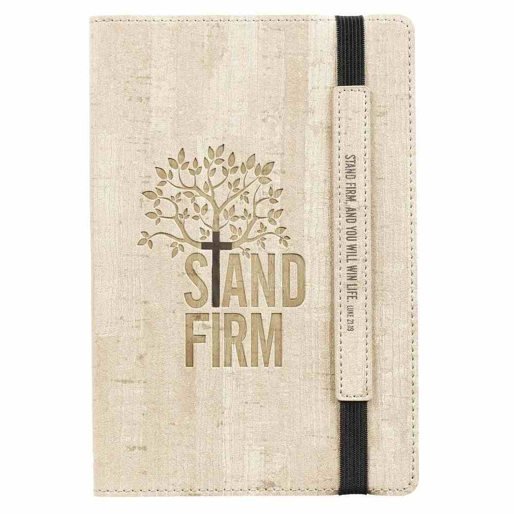 Dot Grid Journal: Stand Firm, Sand With Elastic Closure Imitation Leather